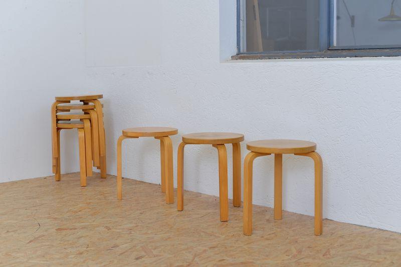 stool 60 hocker dreibein 5 stk alvar aalto st hle sonstiges buma design olten bern z rich schweiz. Black Bedroom Furniture Sets. Home Design Ideas