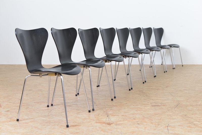 stuhl set 3107 arne jacobsen st hle buma design olten bern z rich schweiz. Black Bedroom Furniture Sets. Home Design Ideas